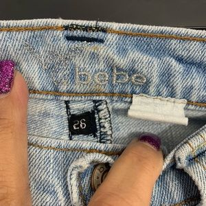 bebe Jeans - BEBE Distressed Embroidered Boot Cut Jeans 26